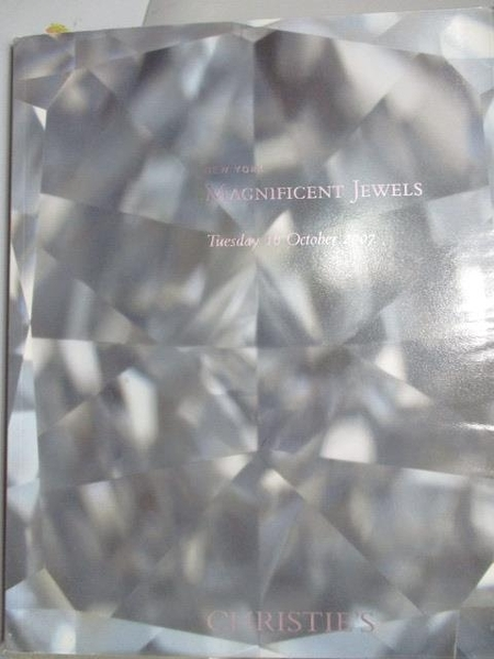 【書寶二手書T5/收藏_ZJI】Christie s_Magnificent Jewels_2007/10/16