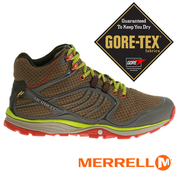 【MERRELL 美國 】男 VERTERRA GORE-TEX高筒越野健行鞋 01711『咖啡』慢跑│健行│休閒鞋