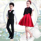 兒童表演服裝 男女童合唱服演出服韓服 cosplay