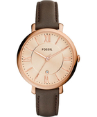 FOSSIL Jacqueline 羅馬風采時尚腕錶/手錶-玫瑰金x咖啡/36mm ES3707