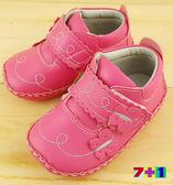 可愛蝴蝶 寶寶學步鞋 真皮鞋墊《7+1童鞋》C512桃色