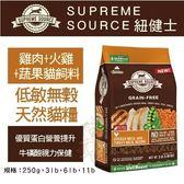 【行銷活動75折】*KING*美國Supreme Source紐健士 低敏無穀天然貓糧》雞肉+火雞+蔬果11lb 貓飼料