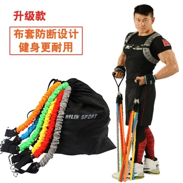 阻力帶拉力繩健身男力量訓練防斷拉力器阻力繩女士健身彈力繩家用彈力帶 風馳