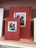 45 DESIGN MIT  代客排版製作 鋼琴烤漆 相本 相簿 結婚  12吋小本 婚紗店專用 紅色普普風 點點