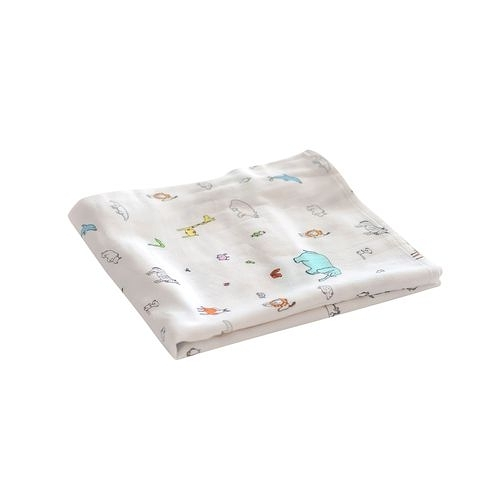 Tiny Twinkle Swaddle Blanket Single 紗布巾(動物)TT-1118[衛立兒生活館]