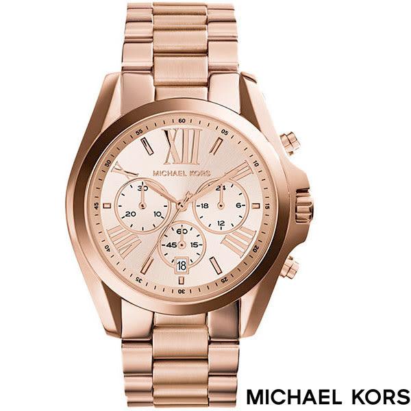 MICHAEL KORS 經典玫瑰金錶大錶面羅馬字三眼女錶 42mm MK5503 公司貨保固2年 | 名人鐘錶高雄門市