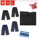 薄款綁繩八分寬褲 (2色/M-L) →有彈性.中高腰【180410-311】牛仔大學