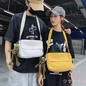 帆布側背包日系郵差休閒包包男女側背包【少女顏究院】