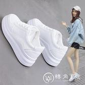 小白鞋女百搭基礎2018新款韓版夏秋季學生街拍厚底白鞋港風板鞋子