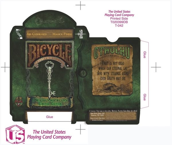 【USPCC 撲克】Cthulhu Bicycle Deck - Necronomicon Edition