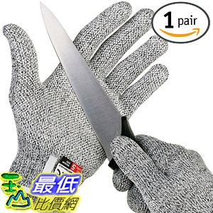 [106美國直購] 手套 NoCry Cut Resistant Gloves with Grip Dots - High Performance Level 5 Protection, Food Grade