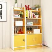 簡約現代書架臥室書櫃客廳置物架創意隔斷置物架子簡易書架展示櫃xw 【快速出貨】