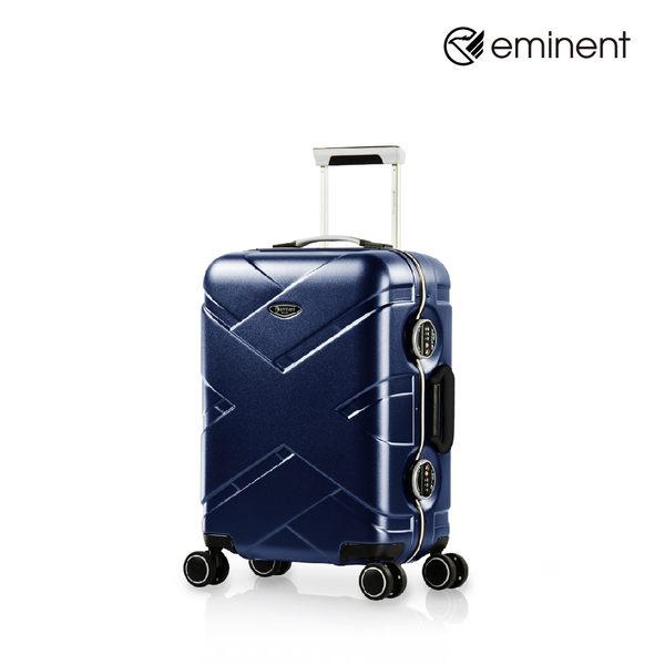 eminent 【克洛斯】首創TSA圓鎖細框全PC行李箱 20吋(新品藍)9P0