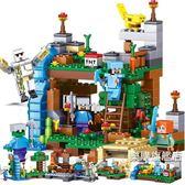 新年禮物-組裝積木我的世界兼容樂高拼裝積木玩具村莊房子人偶人仔小顆粒組裝模型女