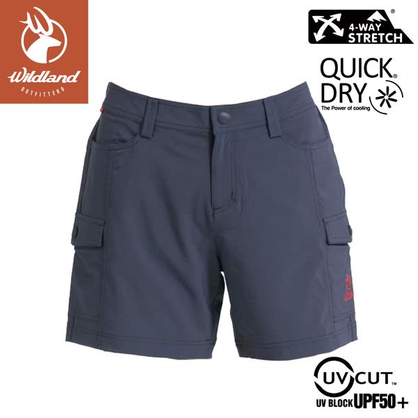 【Wildland 荒野 女 彈性抗UV短褲《灰》】S1377/防曬褲/運動褲/休閒褲/工作褲