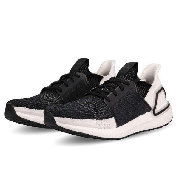 ISNEAKERS ADIDAS ULTRA BOOST 19 黑白 男鞋 B37704
