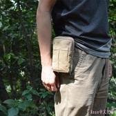 手機腰包 5寸5.8寸跑步運動腰包手機袋男士小包帆布手機掛包小腰包 DR1952【Rose中大尺碼】
