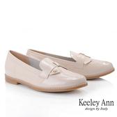 Keeley Ann我的日常生活 MIT甜美金屬飾釦漆皮樂福鞋(粉紅色)