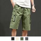 【男人幫大尺碼】K1617-工作短褲 工作褲 工裝褲-軍綠色