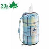 丹大戶外【LOGOS 】 愛麗絲餐巾紙套抽取式面紙盒裝飾袋紙巾套81285058 藍