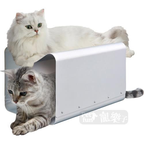 [寵樂子]《日本MARUKAN》貓用造型兩用鋁製涼窩CT-407/寵物涼墊