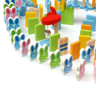機關版動物骨牌玩具 150片認知兒童