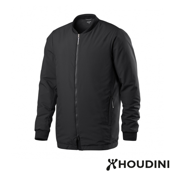 瑞典 Houdini Pitch Jacket 長版MA-1版型鋪科技棉夾克 男 純黑 #205854
