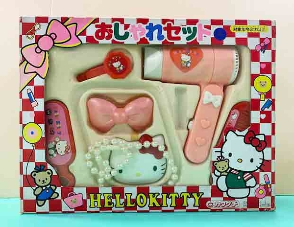 【震撼精品百貨】Hello Kitty 凱蒂貓-三麗鷗 kitty 吹風機梳妝玩具組#42224