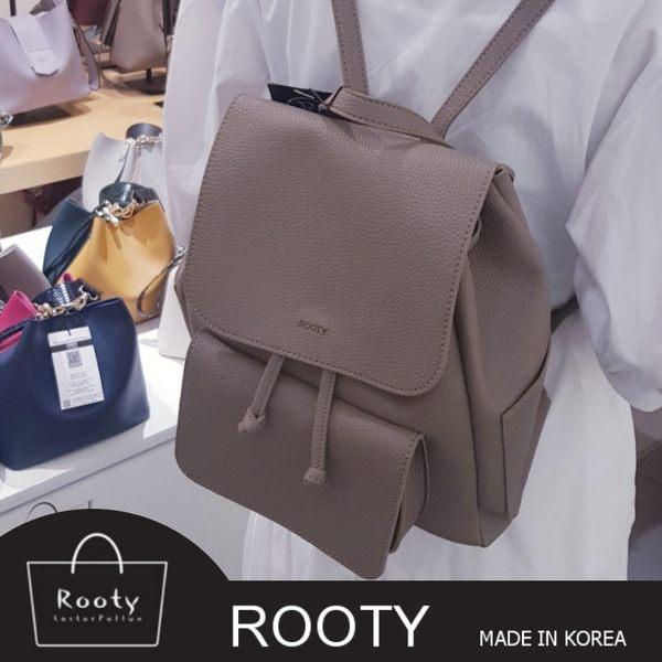 正韓Rooty一流皮革質感水桶翻蓋後背包 NO.R451【2代升級款】