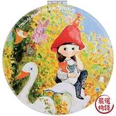 【日本製】【ECOUTE!】隨身化妝鏡 紅帽女孩圖案 SD-3710 - ecoute!