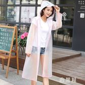 成人戶外時尚旅游透明雨衣騎行女男單人徒步網紅雨衣旅行便攜雨衣TA4914【雅居屋】