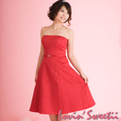 【Lovin Sweetii】俏麗媽咪小禮服洋裝~玫瑰紅色款