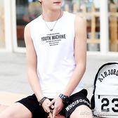 青年坎袖背心男純棉韓版潮流修身型運動T恤坎肩無袖緊身汗衫   傑克型男館