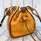 BRAND楓月 LOEWE 羅意威 經典 橘黃色 皮革 抽繩 MINI HAMMOCK 肩背包 迷你 手提包