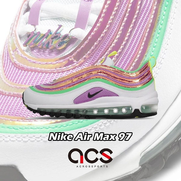 Nike 休閒鞋 Wmns Air Max 97 紫 白 女鞋 糖果色 運動鞋 復古慢跑鞋 【ACS】 CW5591-100