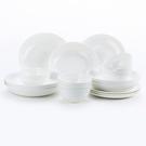 HOLA 緻白骨瓷18件餐具组 可適用於微波爐及洗碗機