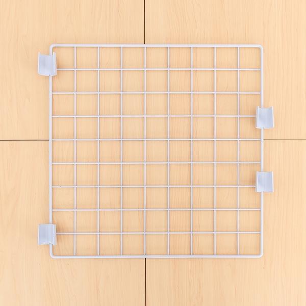 平面網/鐵網/側格網【配件類】45x45cm 烤白方格平面網(含夾片、送塑膠S勾5入) dayneeds