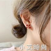 韓國代購過年紅色蝴蝶結耳釘少女S925銀針百搭圣誕耳環女小巧耳墜 小艾新品