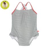 德國Lassig-嬰幼兒抗UV連身式泳裝-珊瑚條紋