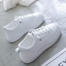 小白鞋 女2021新款春季棉鞋百搭網紅板鞋厚底老爹鞋加絨運動白鞋【快速出貨八折下殺】