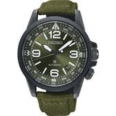 【台南 時代鐘錶 SEIKO】精工 Prospex 時尚品味專業飛行錶 帆布帶 SRPC33J1@4R35-02N0G 墨綠 42mm