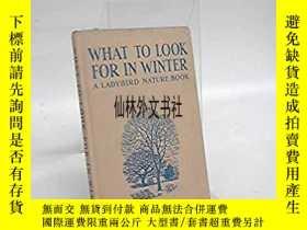 二手書博民逛書店【罕見】1959年 What to Look for in Wi