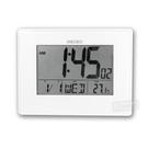 SEIKO 精工 / 多功能 日期 溫度 智能感光 貪睡鬧鈴 座鍾 掛鐘 電子鐘 - 白色 #QHL057W