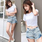 【KW牛仔】(預購)M~XL純真夏氛牛仔短褲