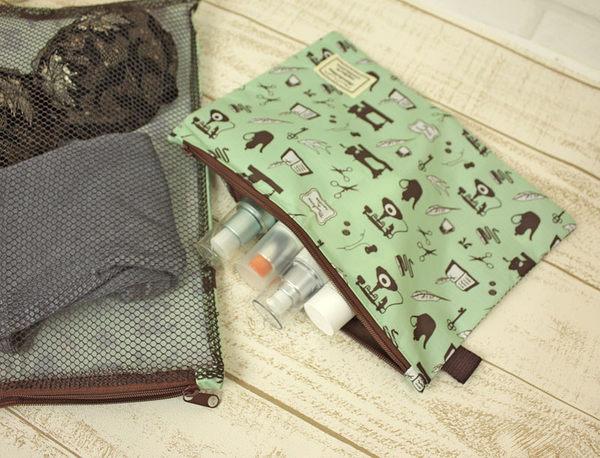 買一送一 日本cram cream收納包.收納袋.化妝包.旅行包.旅行袋.網格