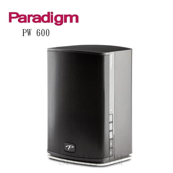 【勝豐群新竹音響】Paradigm Premium Wireless PW600 黑色 3單體2音路無線傳輸喇叭