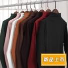 【3695】日系秋冬新款修身半高領長袖百搭T恤(6色/S-L)