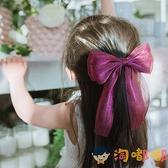 兒童頭飾女童發飾大蝴蝶結飄帶發夾發卡氣質頭花【淘嘟嘟】