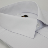 【金‧安德森】白色細紋壓光易整燙窄版長袖襯衫