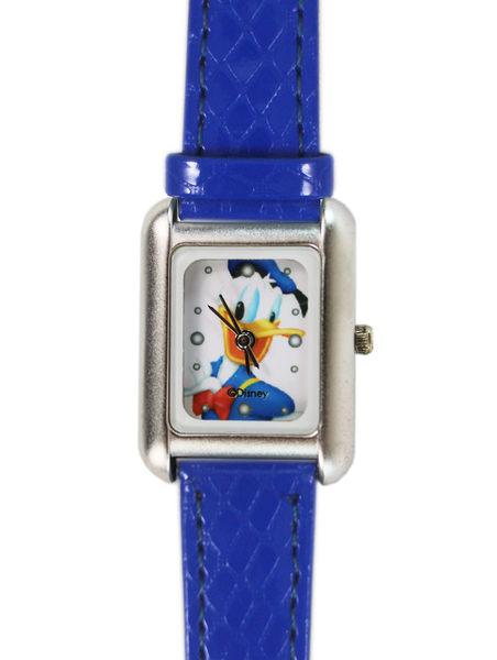 【卡漫城】 唐老鴨 方形 手錶 寶藍色 皮革 ㊣版 女錶 卡通錶 皮革錶 皮帶錶 Donald ~ 2 9 9 元
